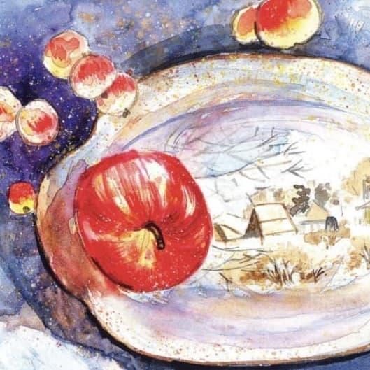 serebrjanoe blyudechko i nalivnoe jablochko